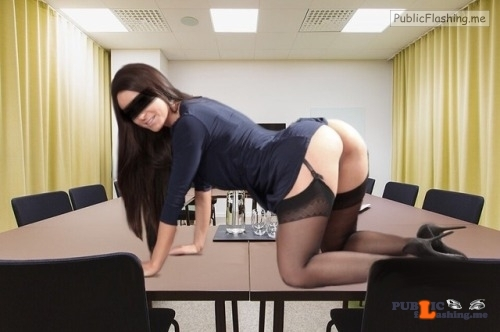 No panties stockholmgirl69: Monday fun at office???‍?#nopantis Would be… pantiesless