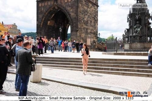 Public nudity photo nipactivity:MonaLee in Prague Follow me for more public…