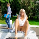 Public flashing photo publicexposurearchive: flashthegash: Pantyless upskirt…