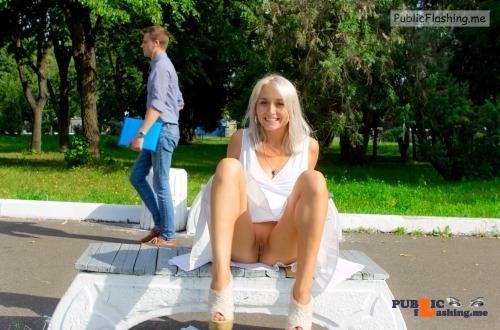 Public Flashing Photo Feed : Public flashing photo publicexposurearchive: flashthegash: Pantyless upskirt…