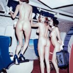 Public flashing photo smooth-balls:plane dare