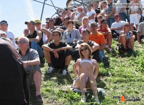 Public nudity photo hot-public-flashing:❤️ Follow me for more public exhibitionists:…