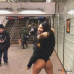 Public nudity photo nudist-voyeurs: Asa Akira, 32, participates in 'No pants Subway…