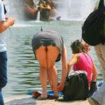 Public flashing photo pantyless-upskirt-love:Fountain upskirt oops