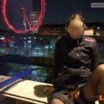 No panties reddevilpanties: Flashing in London pantiesless