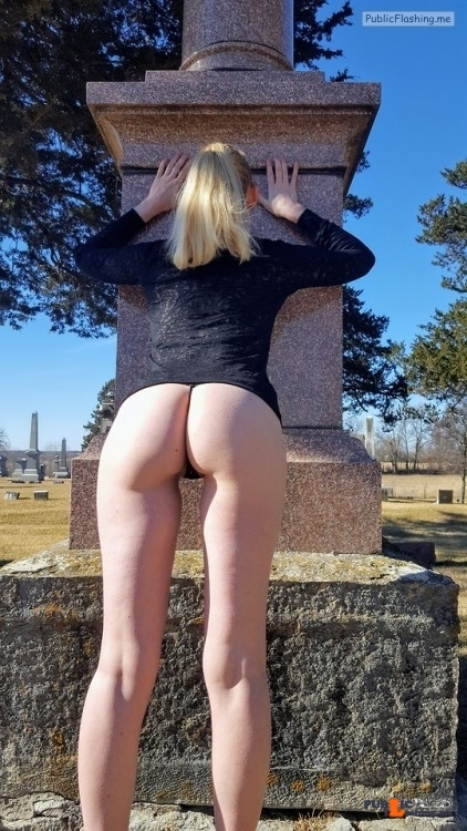 Public Flashing Photo Feed : No panties naughtygf2share: Naughty fun in the Cemetary ? pantiesless