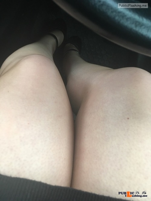 No panties sarah-1971: Quick car selfies before coming to work 😈😈😈 pantiesless