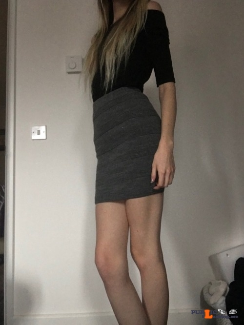 No panties blonde-dolly: Always dress properly for work 💕 pantiesless