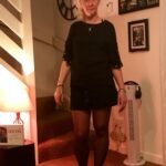 No panties anneandr: Crotchless tights today ready for a little play under… pantiesless