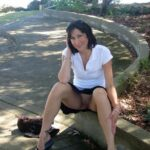 Public flashing photo carelessinpublic:In a park in a short skirt and showing her…