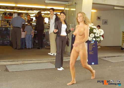 Public nudity photo nakedcascadia:#exhibitionist – The smile on the woman's face…