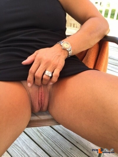 Exposed in public Sweet pussy…