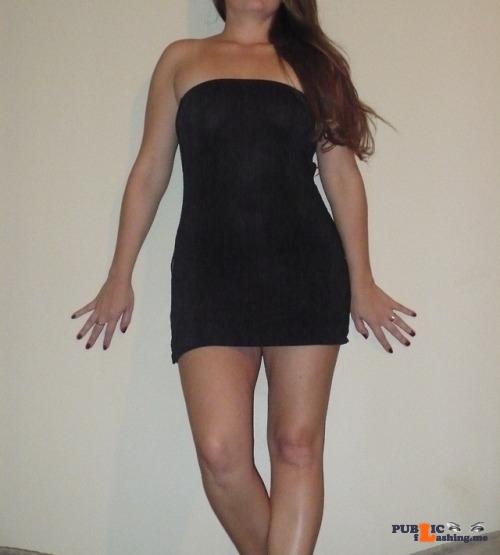 No panties mo-milf: Favorite dress for date night pantiesless