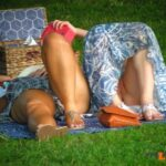 pantylessuniverse: Picnic oops flashing in public picture
