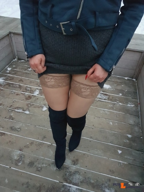 Public Flashing Photo Feed : No panties anndarcy: Upskirt with stockings as you've requested ?Can you… pantiesless