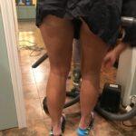 No panties funcouple3736: Love it when she gives me a hair cut! pantiesless