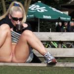 No panties darkflashbdsm: having a hot tea on a winter walk. with sun on… pantiesless