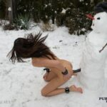 Flashing in public photo sundaemaker:Make a snowman, stick a dildo in it and ride it…