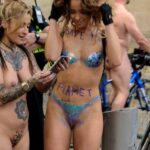 Flashing in public photo thenetty:WNBR Manchester 2017 – save-the-planet-girl