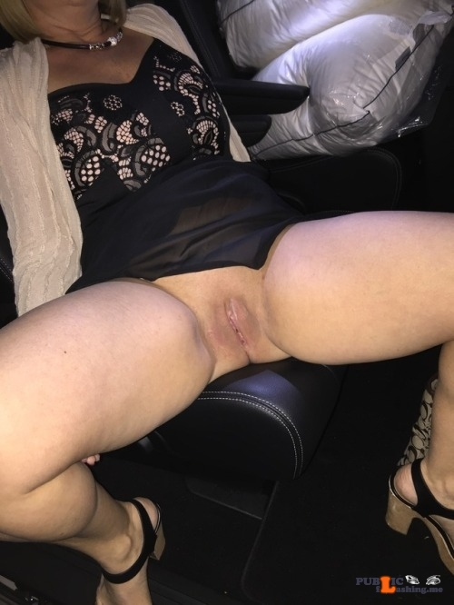 No panties myhotwifekat: Wife showing off her pussy and ass in the mall… pantiesless