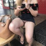 No panties sydneysownlittleslut: Legs spread at the gelato shop! She wants… pantiesless