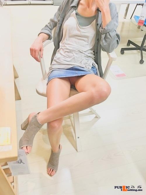 Public Flashing Photo Feed : No panties rastal04: Wow! IKEA!Please reblog! pantiesless