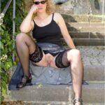No panties alistergee: Die Treppe pantiesless