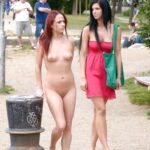 Public nudity photo daican-2:A Walk in the Park Follow me for more public…