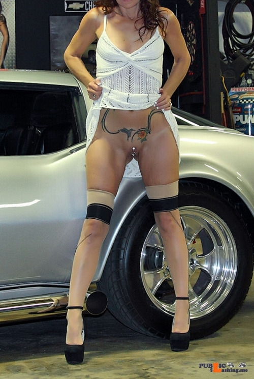 No panties badreputationsoldman: Another hot day at the shop with Baby. pantiesless