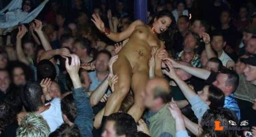 Public Flashing Photo Feed : Public nudity photo enf-findings:This crowd surfing had got a little out of hand….