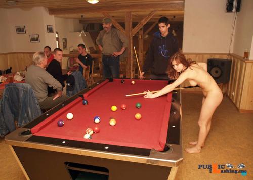 Public nudity photo fanofenf: Rebecca was never good at pool. Even still, she…