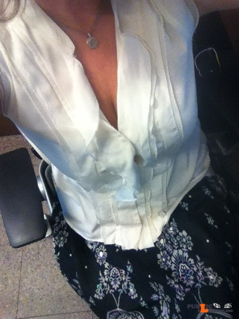 No panties 918milftexter: Throwback Thursday: Work pics from the summer of… pantiesless