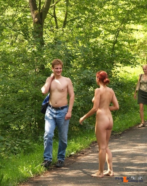Public nudity photo nudist-voyeurs:- How do I get to the library? Follow me for more…