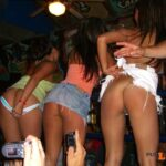 Public nudity photo enf-findings:These three had to turn their backs and face the…