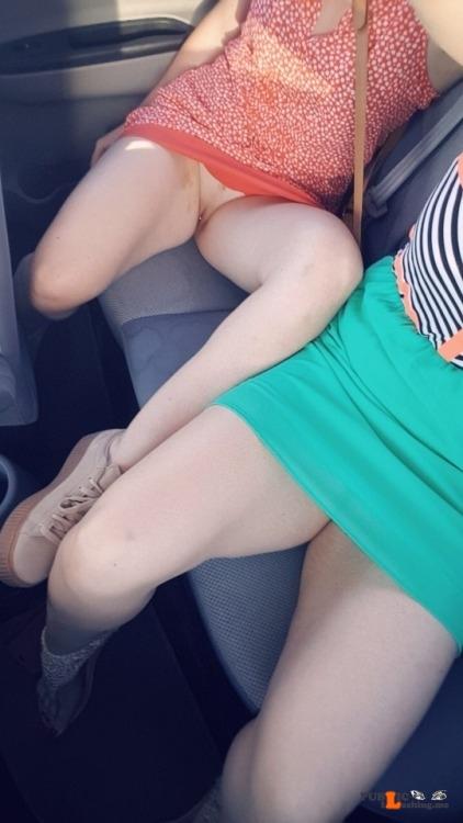 No panties mouthymama: Uber up skirt pantiesless