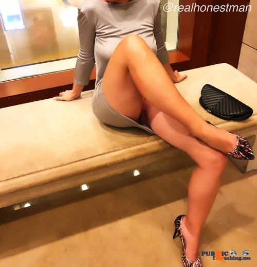 No panties realhonestman: all he said was nice shoes? Well, not quite… pantiesless