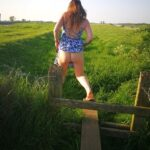 No panties richaz69: Stepping over a stile pantiesless