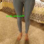 No panties deadlynightshade88: My fav yoga pants 💙💙💙 pantiesless
