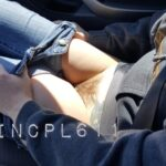 No panties luvincpl611: Going for an afternoin drive pantiesless