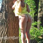 No panties mastersbuttcat: #buttcat enjoying the weather. pantiesless