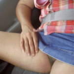 No panties Riding in the car is always fun. Commando car ride. Thanks for… pantiesless