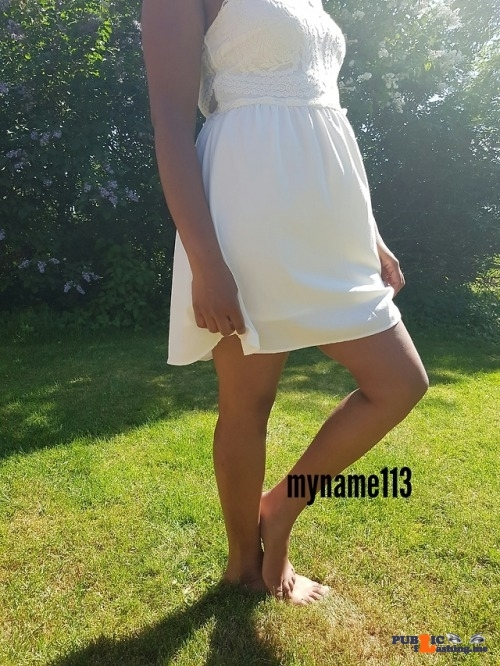 No panties myname113: Just a walk in the park ? do you whant to see more ?… pantiesless
