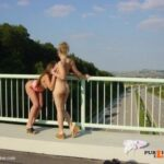 Public flashing photo flashing-wives: Girls showing their tits and pussy above the…