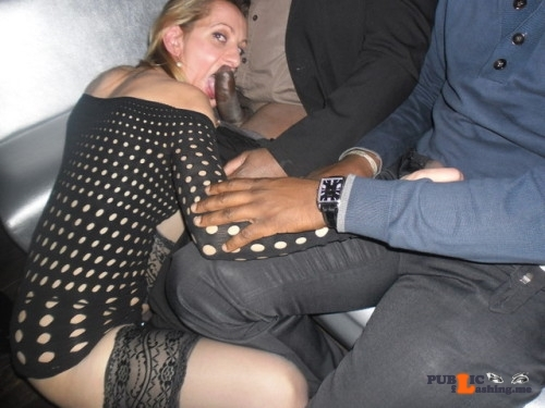 Exposed in public My wife can always be found in the back of the club…
