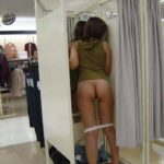 Public flashing photo shoppingbabes5:Woman drops panties in the store dressing room …