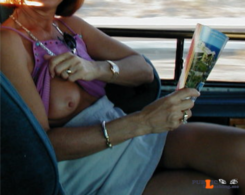 Exposed in public yourhappytraveler:Back seat of a cab in Cabo.