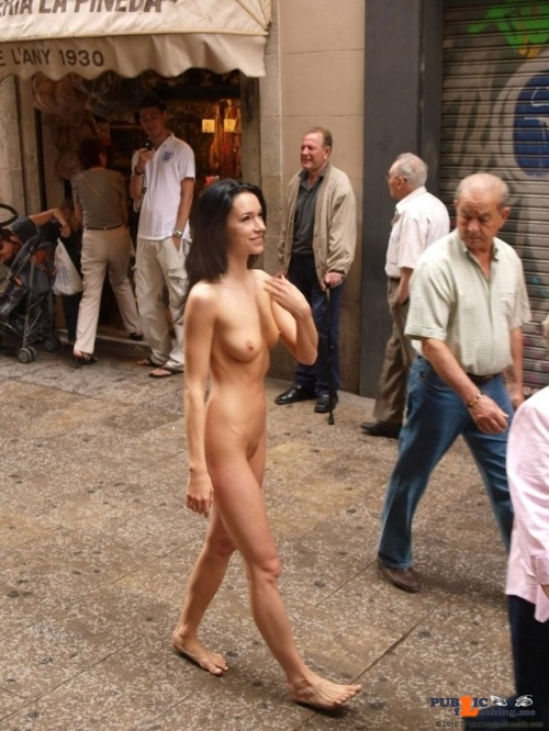 Public nudity photo daican-2: Shopping Naked Follow me for more public…