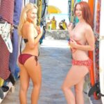 FTV Babes Bold blonde and redhead don't seem to mind who sees them…