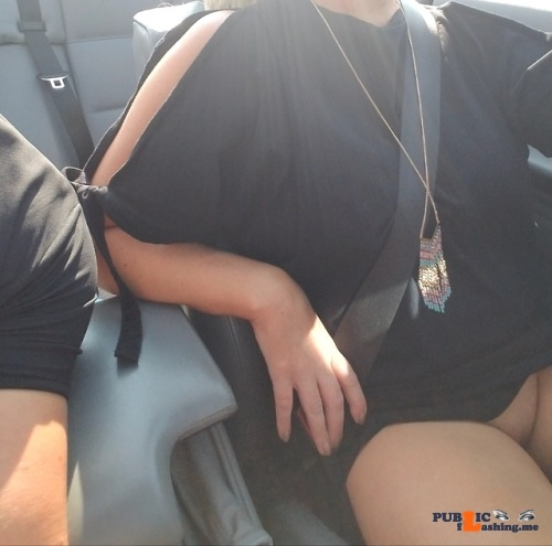 No panties workhardplayhardercouple: Riding around with the top… pantiesless