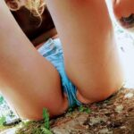 No panties curvyk710: Festival season is here Jean shorts season is in… pantiesless